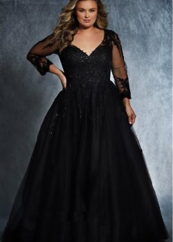 Zwarte bruidsjurk