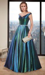 A-Line gekleurde Gala- Avond- Bruidsjurk