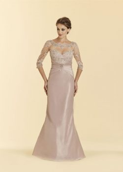 Gekleurde bruidsjurk Rina Di Montella